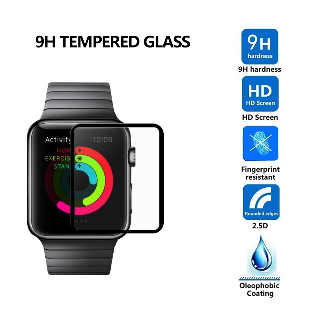 Kính cường lực Apple Watch 9H 2.5D Silk In Black