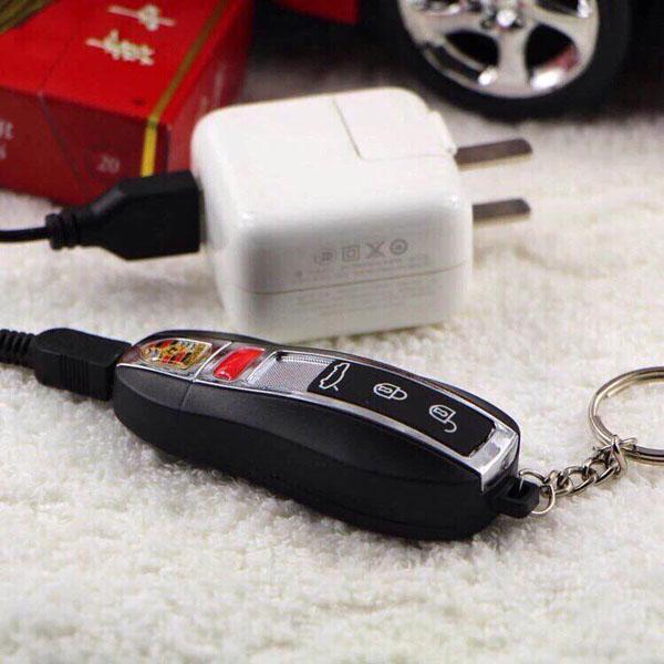 Móc khóa bật lửa sạc điện siêu xe Porche