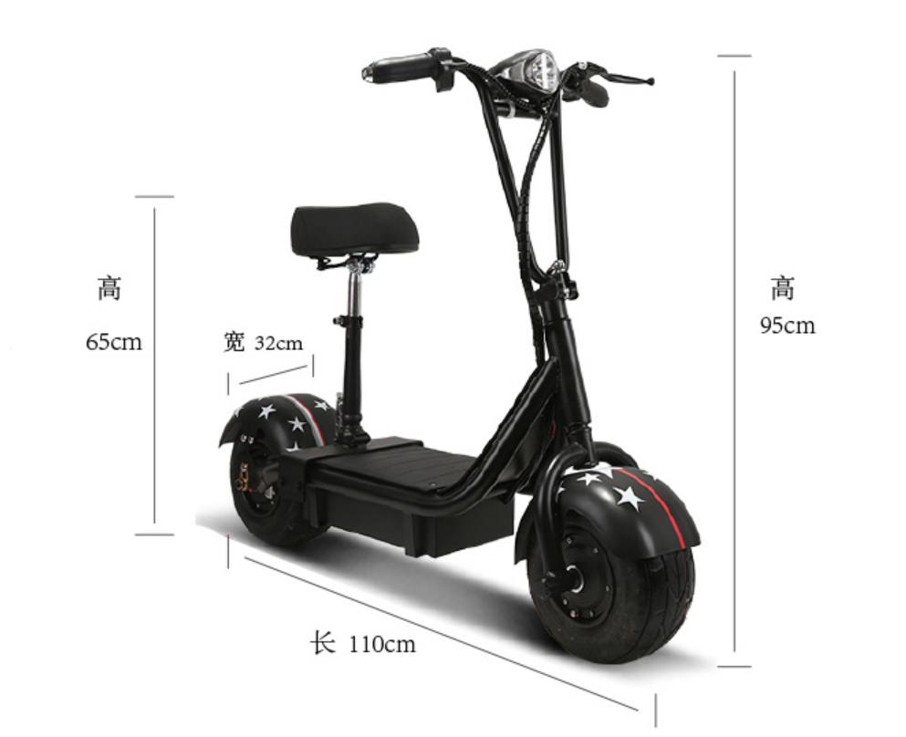 Xe Điện Scooter mini Lốp To