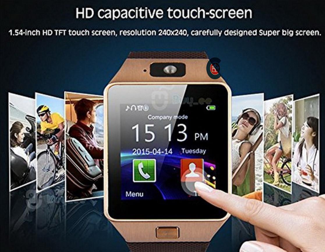 Đồng hồ DZ09 Cảm Ứng Thông Minh Điện Thoại SIM TF Card Bluetooth