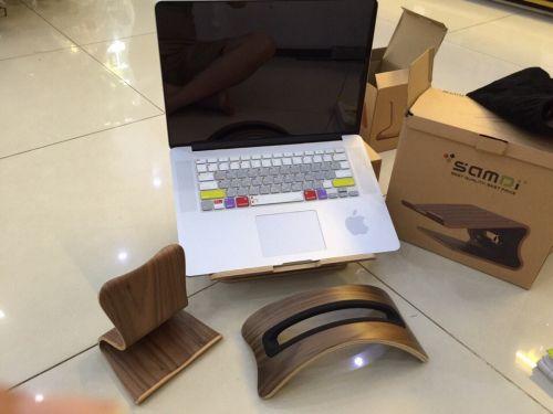 Giá đỡ Macbook bằng gỗ cao cấp hiệu Samdi