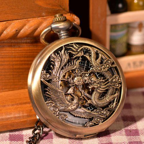 Quà tặng đồng hồ rồng phụng bằng đồng độc đáo đẹp lạ