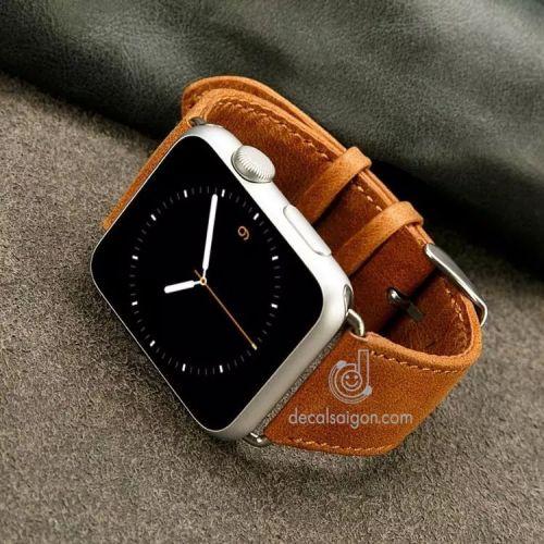 Dây Apple Watch da bò thật 100% cao cấp chính hãng hcm
