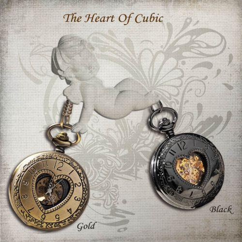 Đồng hồ quả quýt bỏ túi hình trái tim giá rẻ đẹp