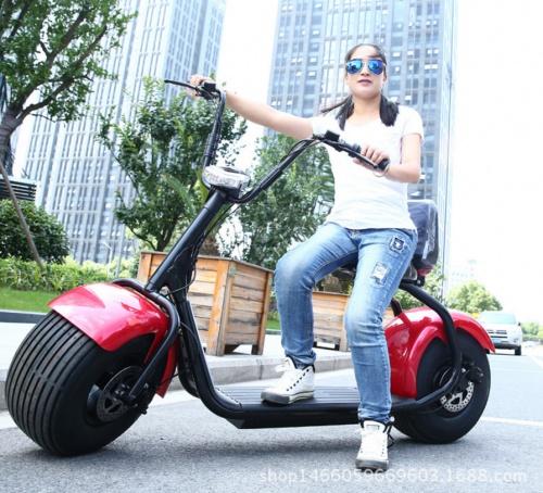 Xe điện Mini Harley 60V pin lithium scooter bánh lớn giá rẻ chất lượng