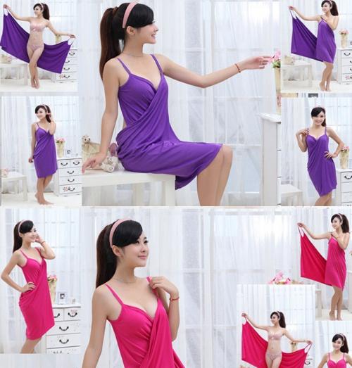 Khăn tắm kiêm váy ngủ đa năng tiện dụng thời trang