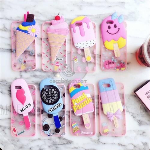 Ốp que kem nổi 3D xinh lung linh cho Iphone 5 6 6s 7 7s Chợ bán sản phẩm xe điện đẹp tốt cao cấp uy tín giá rẻ