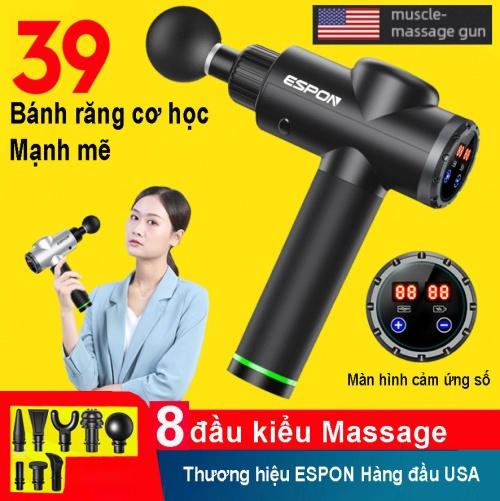 Súng Massage Espon1 Pin 2000mAh 8 Đầu Đa Năng Chợ bán sản phẩm xe điện đẹp tốt cao cấp uy tín giá rẻ