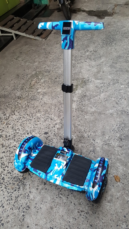 Xe Điện Cân Bằng Có Tay Lái Size 10 Inch Màu Xanh Rằn Ri Chợ bán sản phẩm xe điện đẹp tốt cao cấp uy tín giá rẻ