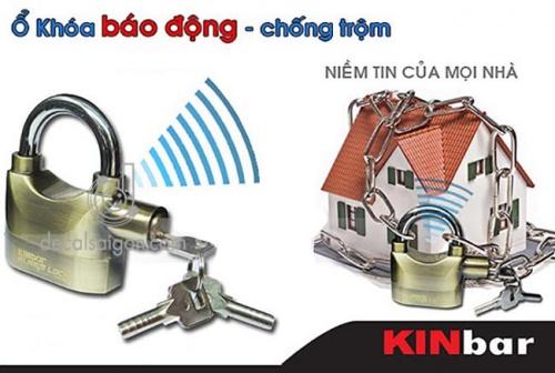 Ổ khóa chống trộm có còi hú báo động Kinbar Alarm Lock 110DBA Chợ bán sản phẩm xe điện đẹp tốt cao cấp uy tín giá rẻ