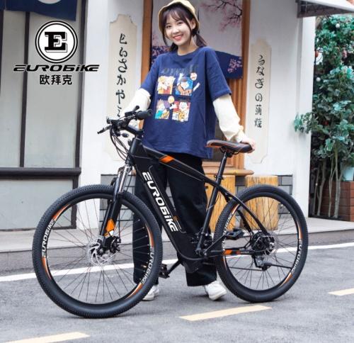 Xe đạp trợ lực điện EUROBIKE Thể thao Pin Đài Loan (Bánh Căm) Chợ bán sản phẩm xe điện đẹp tốt cao cấp uy tín giá rẻ