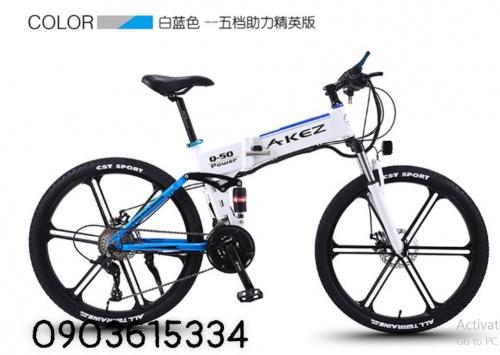 Xe đạp AKEZ Leo Núi 26 inch Gấp Pin Lithium 27 Tốc Độ Chợ bán sản phẩm xe điện đẹp tốt cao cấp uy tín giá rẻ